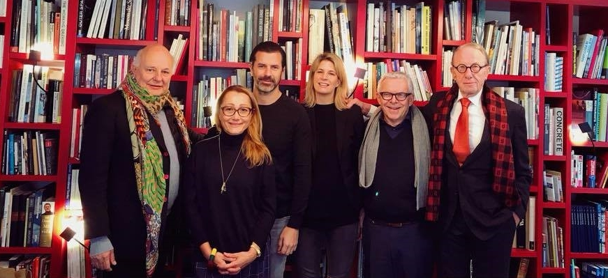 Rolf Sachs, Tanja Grandits, Andreas Caminada, Sarah Leemann, Hans Peter Strebel und Beat Curti (from left to right)