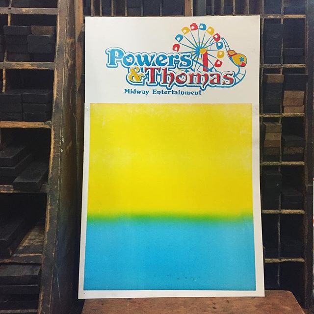 We started offering custom mastheads for our carnivals this year. Here is the first one that took us up on the offer. We sure are loving how this looks. If you are interested in having a custom masthead contact us before the end of April for a great deal. #letterpress #masthead #carnival #fair #amusement #midway #entertainment #powersandthomas #carnivalrides #branding