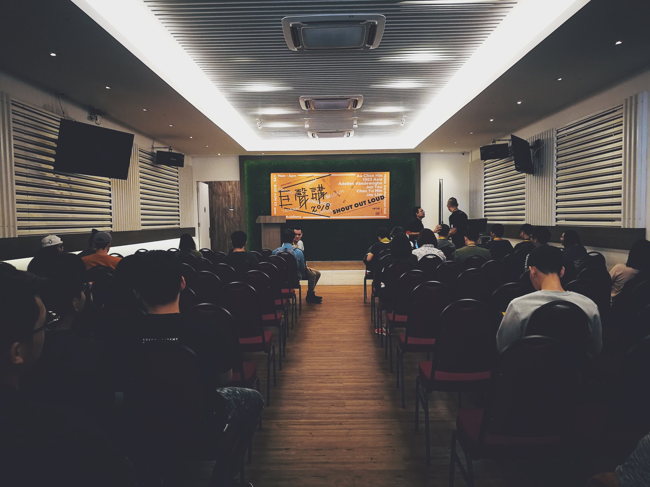 Creatives flocked to the event hall at Hotel Taman Molek, hours before the event.