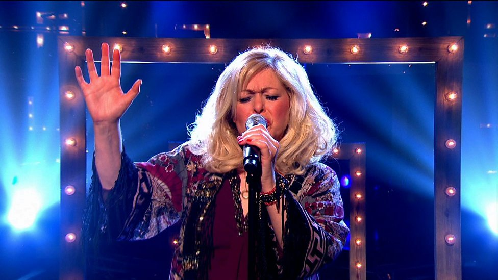 Sally Barker sings From Both Sides Now in BBC The Voice Final.jpg