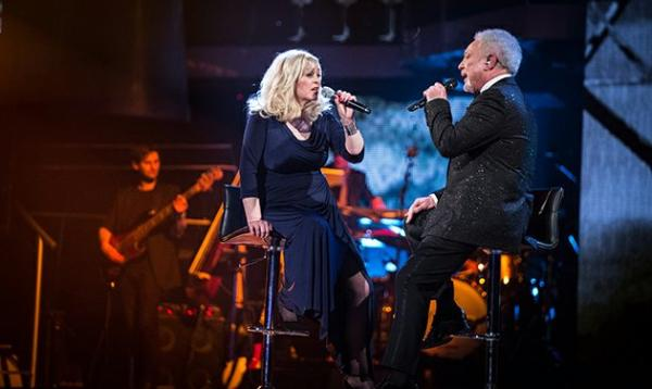 Sally Barker sings Walking in Memphis with Tom Jones in BBC The Voice Final.jpg