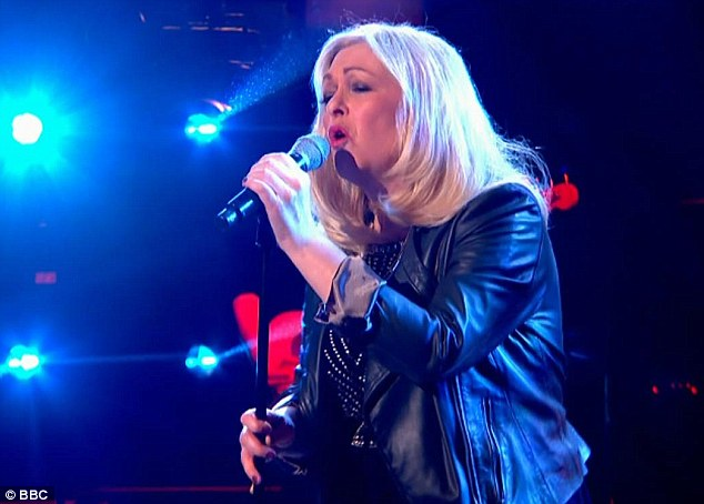 Sally Barker sings Whole of the Moon in BBC The Voice Semi-final.jpg
