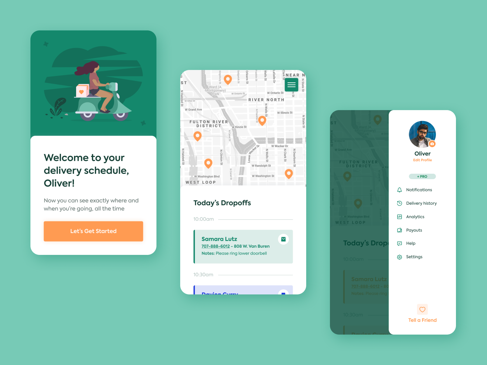 Delivery Calendar - Dribbble