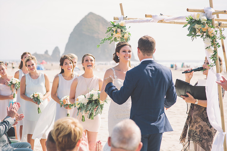 Cannon Beach Wedding Ceremony