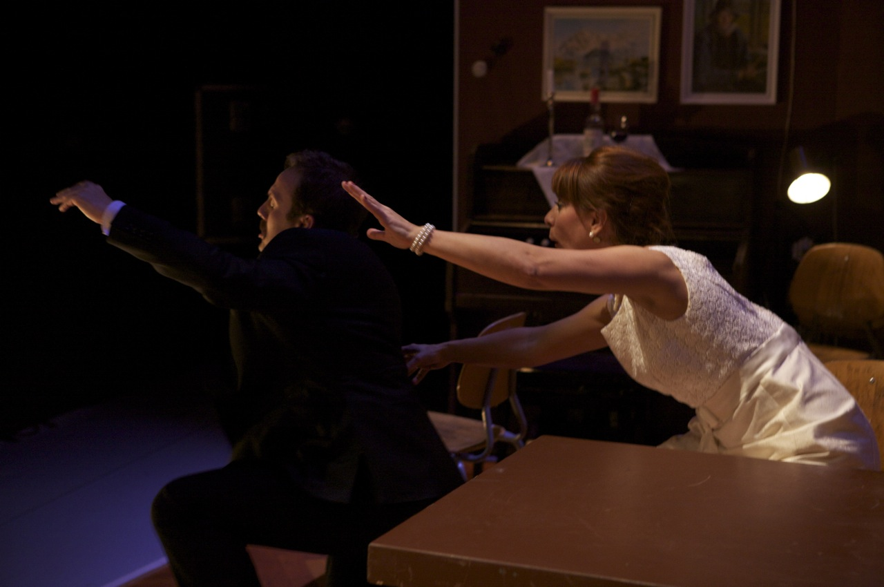 Nina Bendiksen. Gudmund Gulljord. Nordaførr. Nordland Teater 2009. Photo: Henriette Faye-Schjøll.