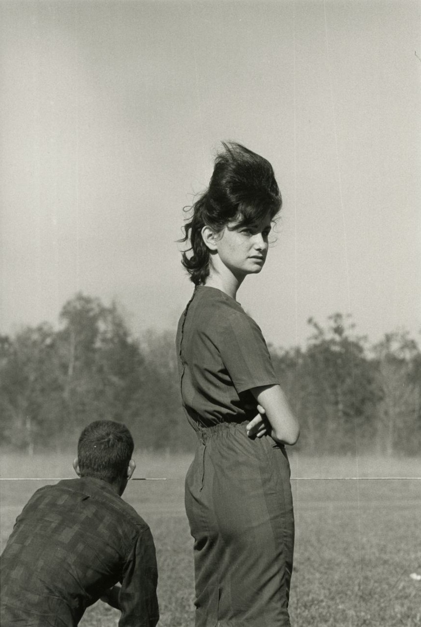 Woman at a Race in Prairieville, Louisiana, 1964 © Danny Lyon
