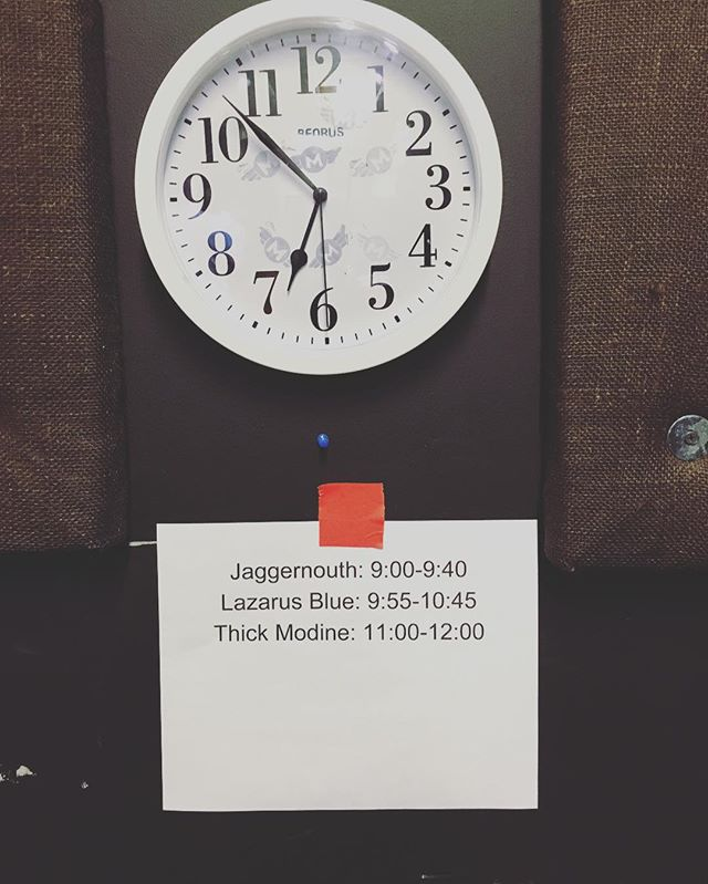 Time is counting down folks @motorcomh @jaggermouth #lazarusblue