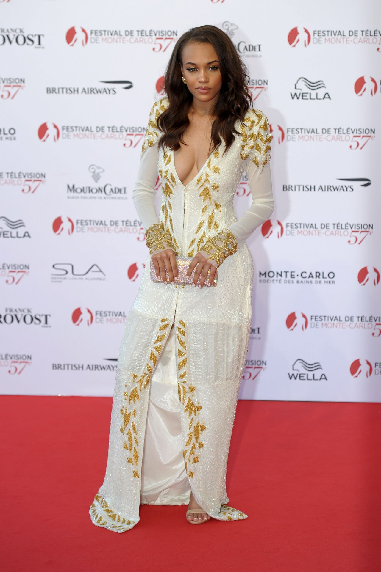Reign Edwards attending the 57th Montecarlo Television Festival