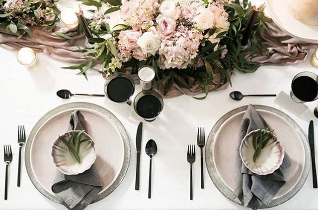An oh so perfect table setting with matte black flatware and HoneyB Paper Co. name cards 💕 We loved partnering with @sageandthistleevents. 📷@elishabraithwaite 🌸@peaches_and_peonies Check out the other fab vendors below 👇🏼 • • • Gowns: @Saphiablue Suit: @truegentlemansupplyco HMUA: @kalichris.hma Cake: @bakemeakake Studio: @ecd.studio Model: @morgsgalbraith • • • #CustomInvitations#WeddingInspiration#Bride#WeddingInvitation#BridalInspiration#PaperLove#Weddingideas#PaperGoods#stylemepretty#inspiredbythis#weddingstationery#weddingseason#weddingplanning#theknot#Details#thatsdarling#makemoments#weddinginspo#SoLoverly#weddingvenue#whitewedding#sochic#utahbride#bridetobe#weddinginvitations#paperdesigner#utahvalleybride#etheral
