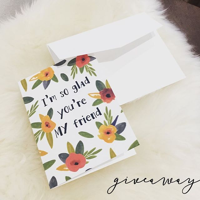 💕GIVEAWAY💕 Enter to win an 8 Pack of these 4x5 folded cards! To enter: 1.Follow us and like this post 2.Tag a friend (or friends) in the comments - each tag is 1 entry 3.Repost with #HoneyBGiveaway for an extra 10 entries! :) Winner will be announced tomorrow evening 2/14/2017!  But don't worry we're passing on the love to everyone! :) Now until tomorrow night you can Save 40% off our wall calendars w/ code: BABY & 15% off our cards w/ code: BABY2 • • • • • • • • #CustomInvitations#WeddingInspiration#Bride#WeddingInvitation#florals#PaperLove#Weddingideas#PaperGoods#Lovely#stylemepretty#inspiredbythis#weddingstationery#weddingseason#weddingplanning#greetingcards#thatsdarling#makemoments#weddinginspo#Sharethelove#bestfriends#besties#Valentine#iloveweddingdetails#ValentinesDay#ValentinesGiveaway#GIVEAWAY *This contest is in no way sponsored, administered, or associated with Instagram, Inc. By entering, entrants confirm that they are 13+ years of age and agree to instagrams terms of use.