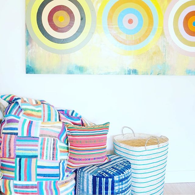 #yummyyogigoods #amagansett # upcycled#creative#colorful#beanbags repost from #yummyyogigoods