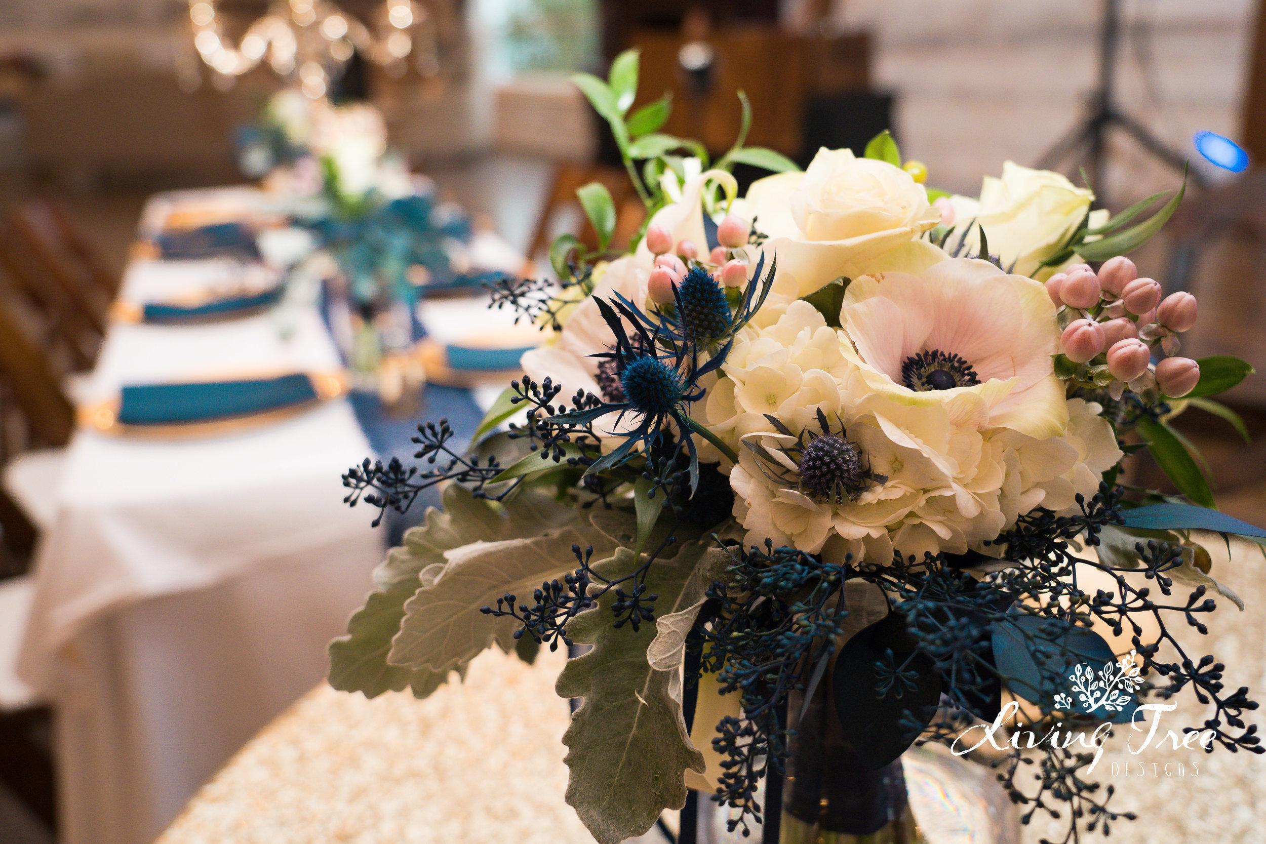 Flowers by Devault Floral Lubbock, Texas  Wedding: Williams- Bates Wedding, Eberley Brooks Event Center, November 2018