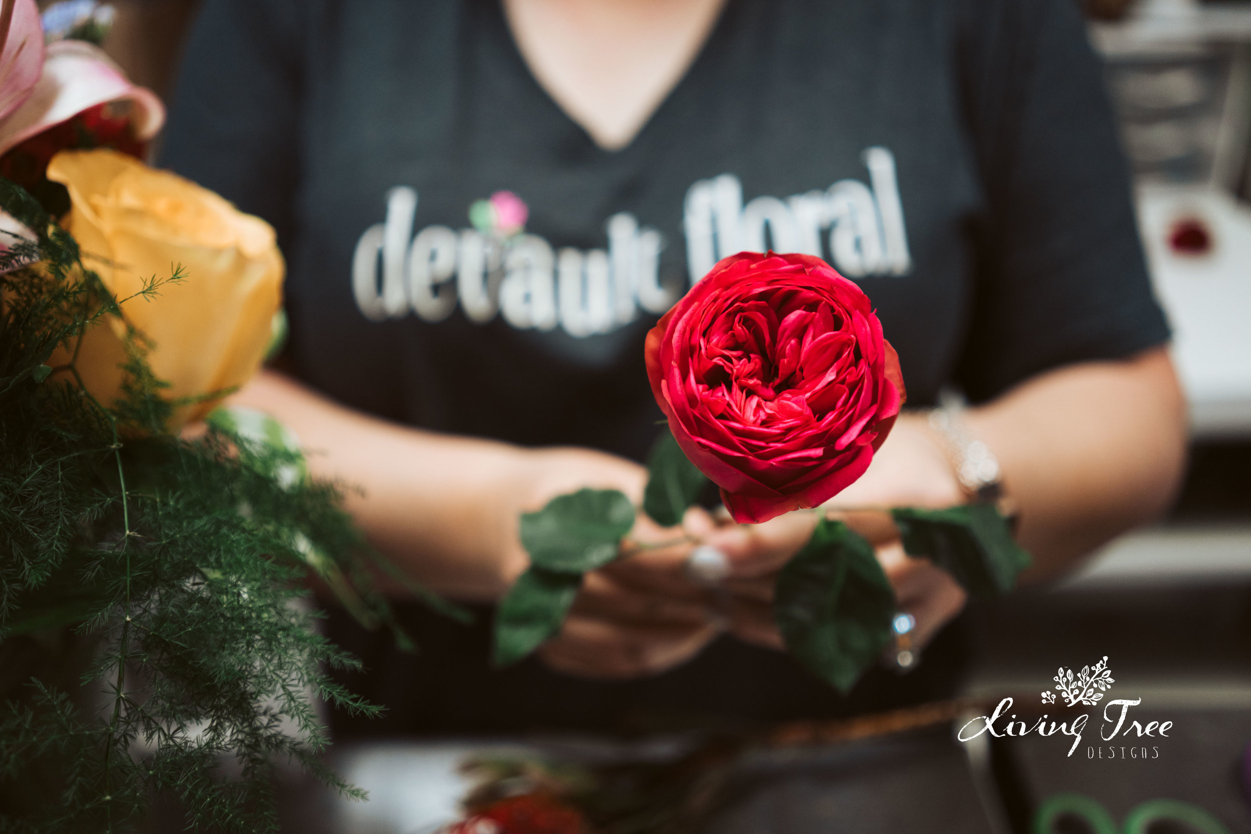 A photo from the time I learned the difference between garden roses and a peonies! I also learned you could totally save some dough by switching the two or using both and to trust your florist!