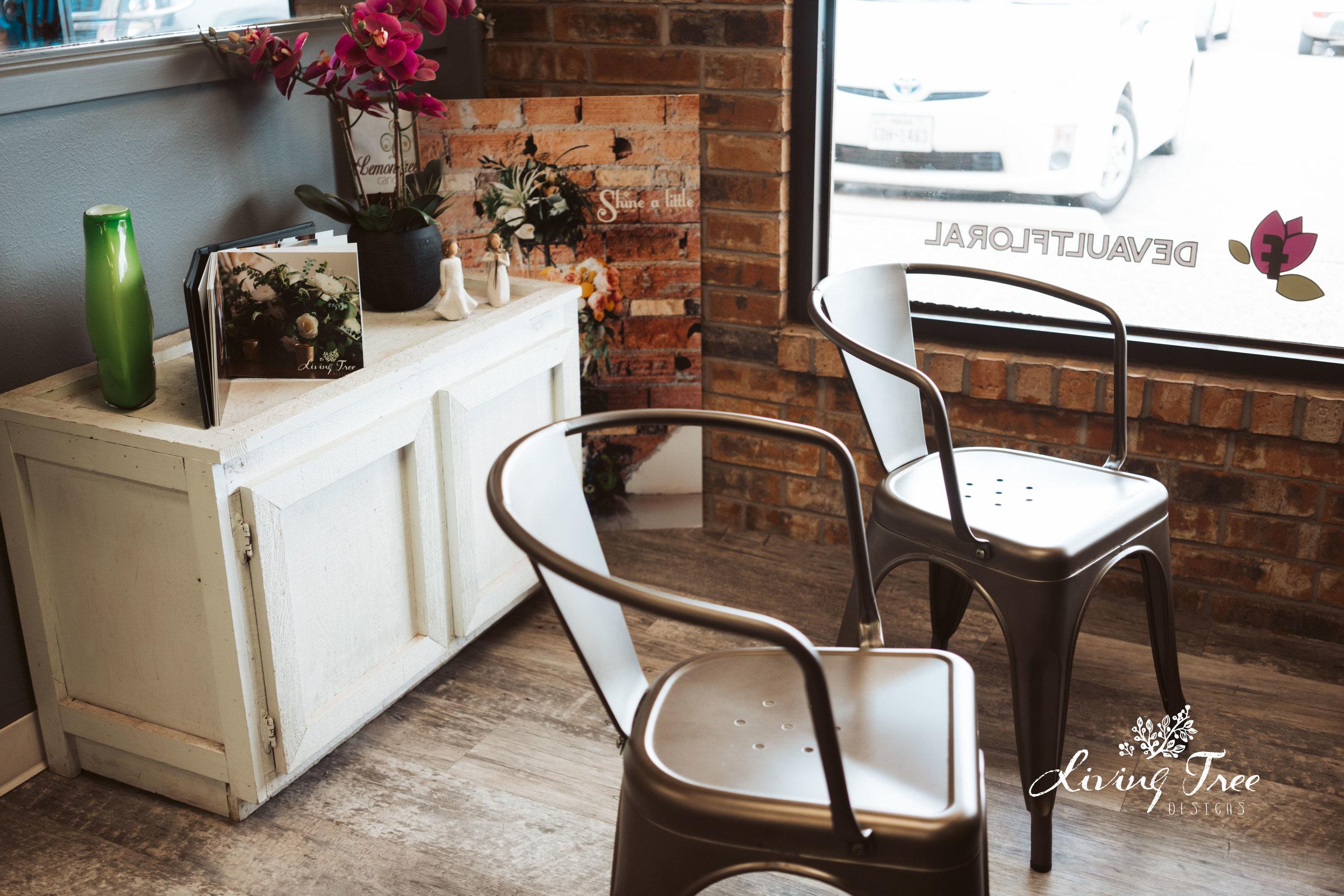 Bridal Consult Area at Devault Floral