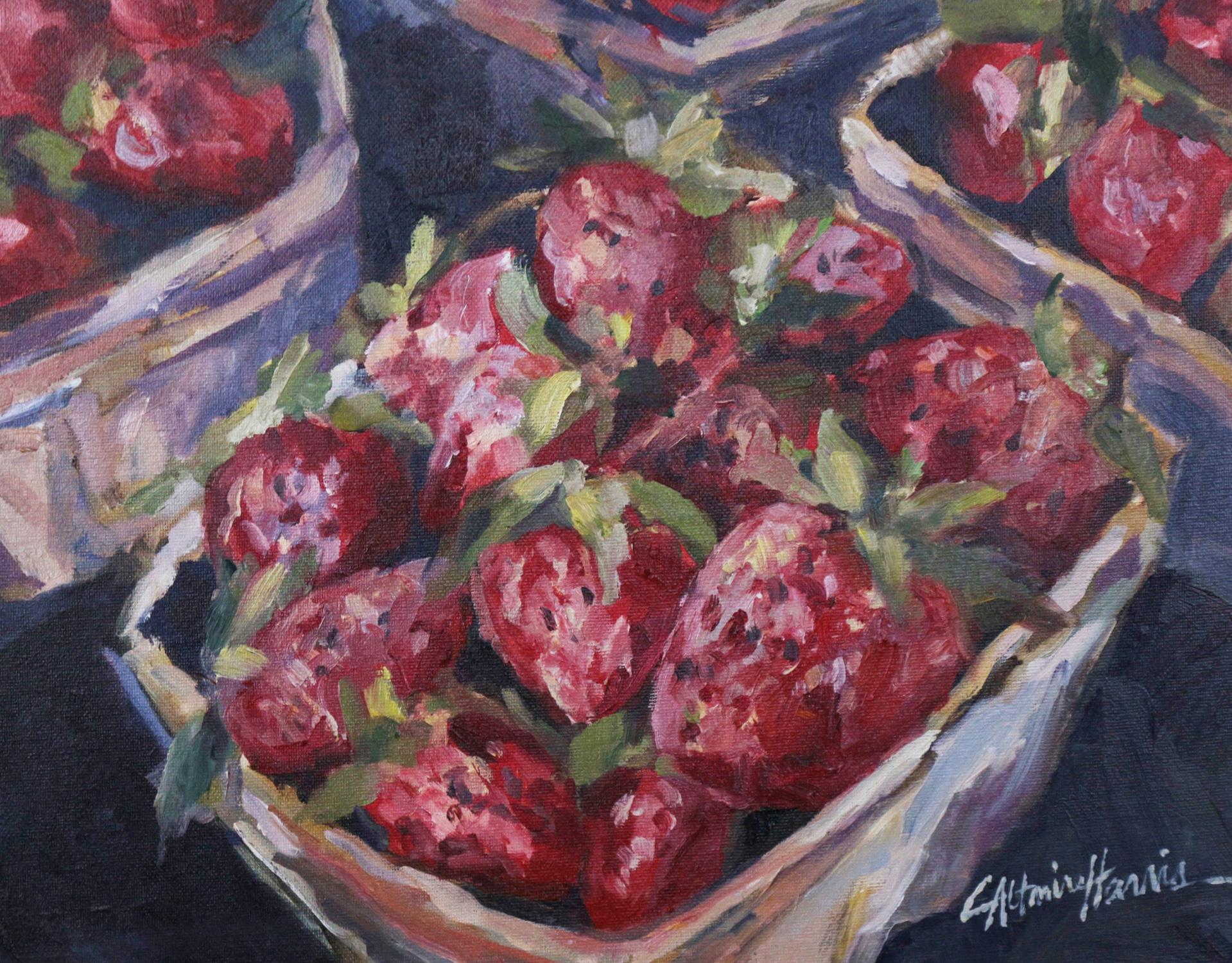 Strawberries at Whites Market