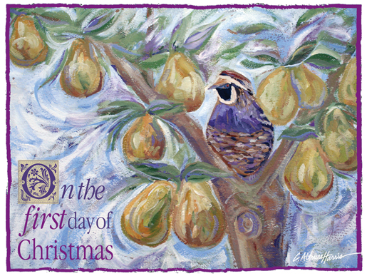 Partridge In a Pear Tree painting