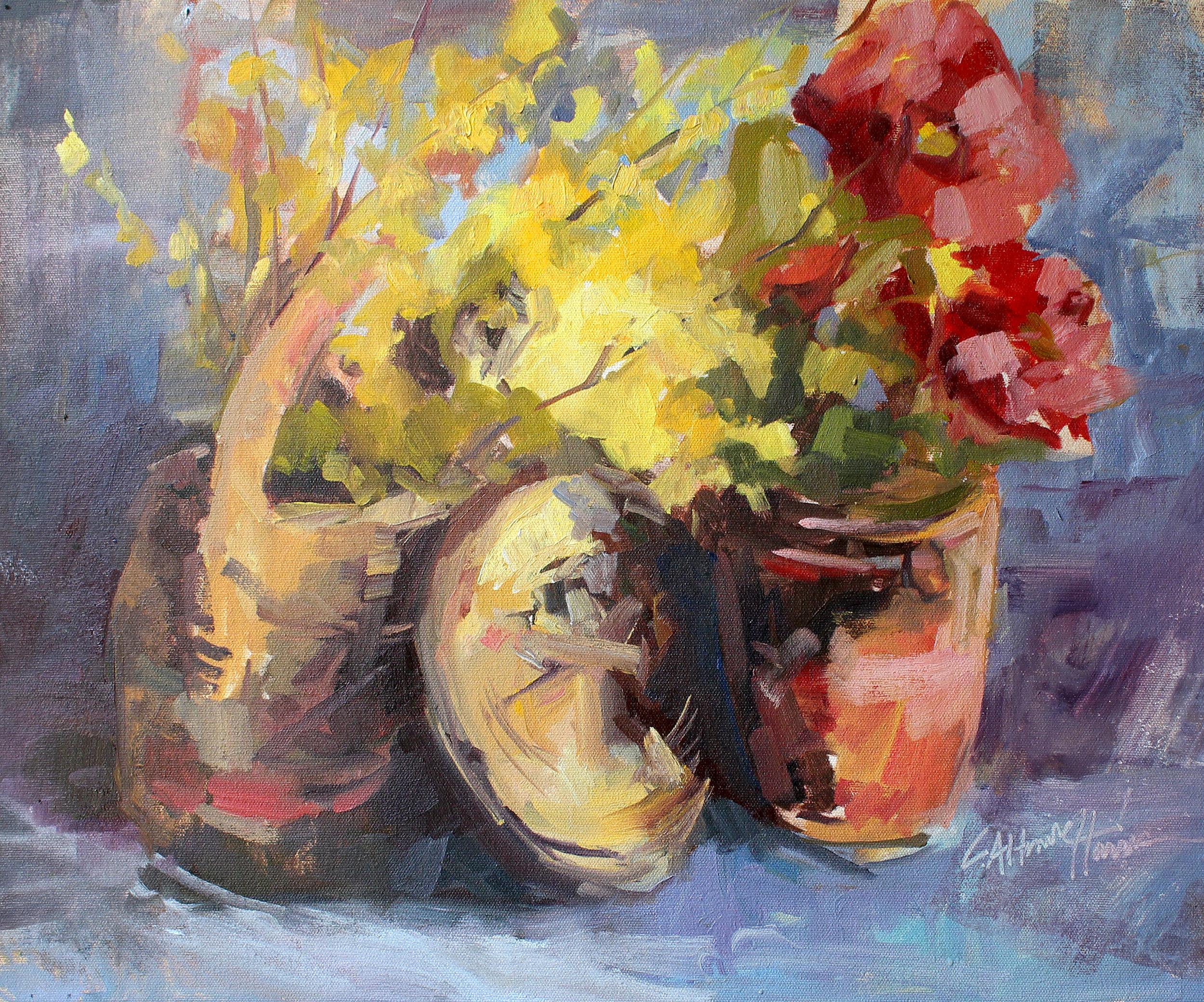 Leta's Basket of Forsythia*