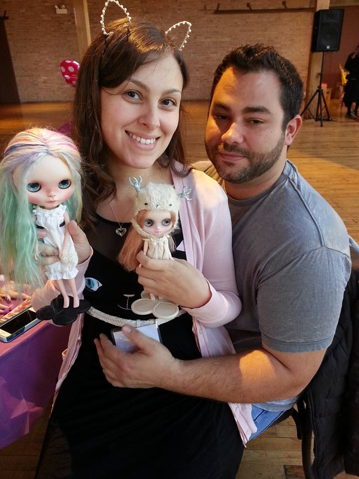 Me and John with the dolls he got me.