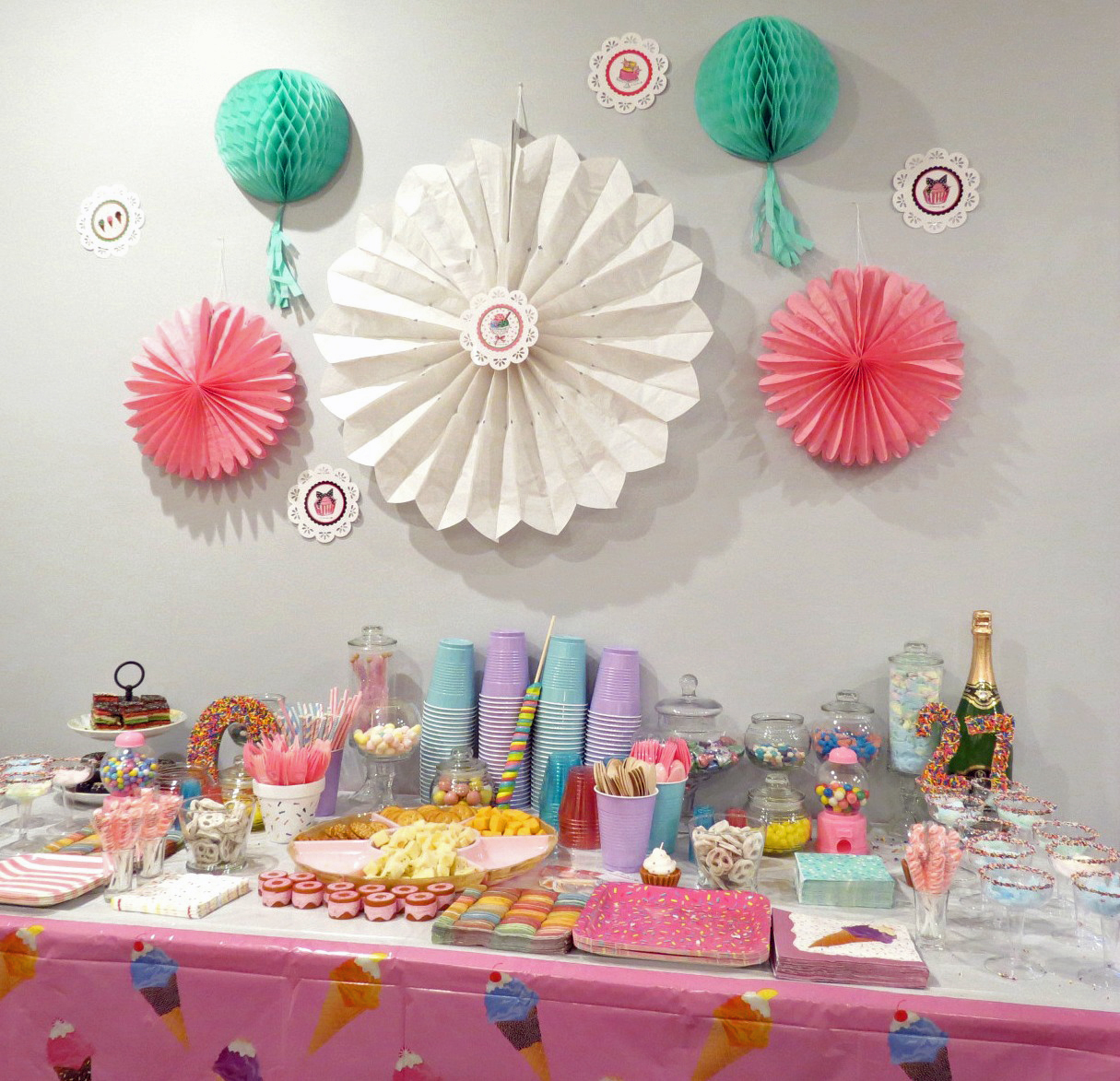 Sugar Sweet Party Ideas. Donuts and cupcakes and ice cream, oh my! Check out this adorable party for ideas, decorations, and tutorials.