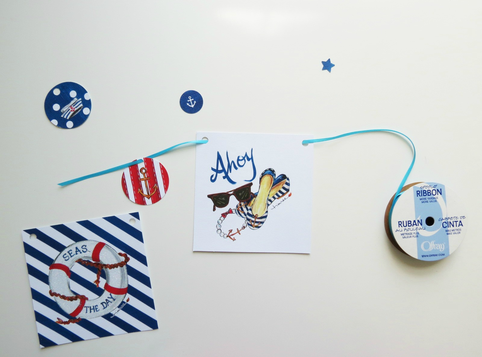 Part nautical, part 4th of July, and 100% perfect for summer, this quick and easy DIY can be made in just minutes! Click to find out how we crafted this banner with just $6 and some note cards.