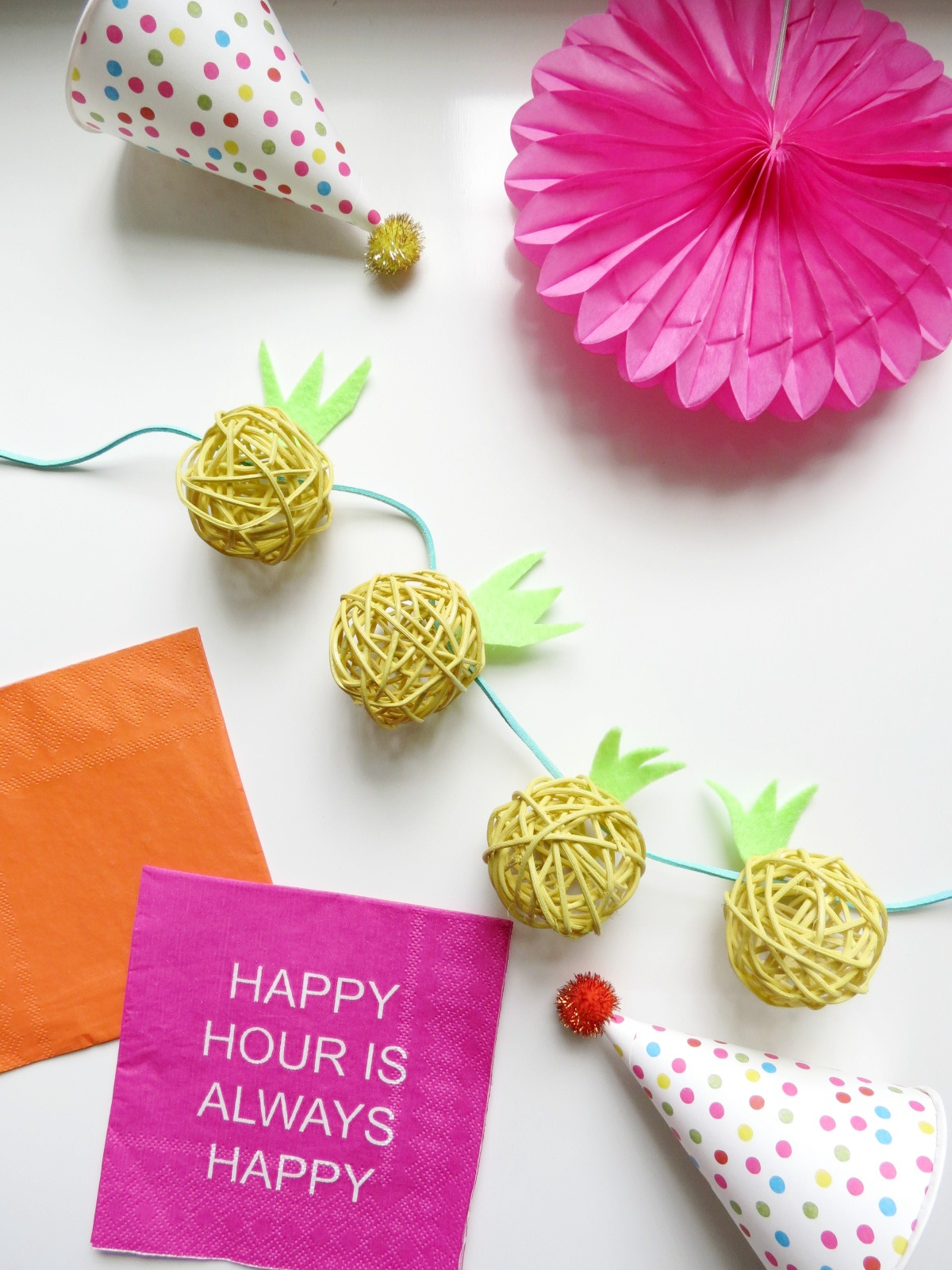 DIY Pineapple Garland- Cute and Easy!
