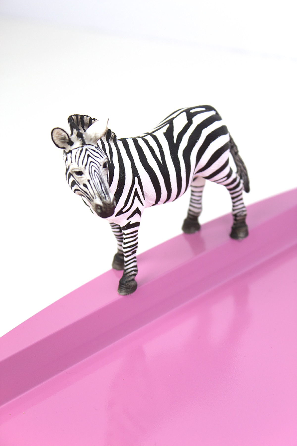 DIY Zebra Tray. Click for the full how-to!