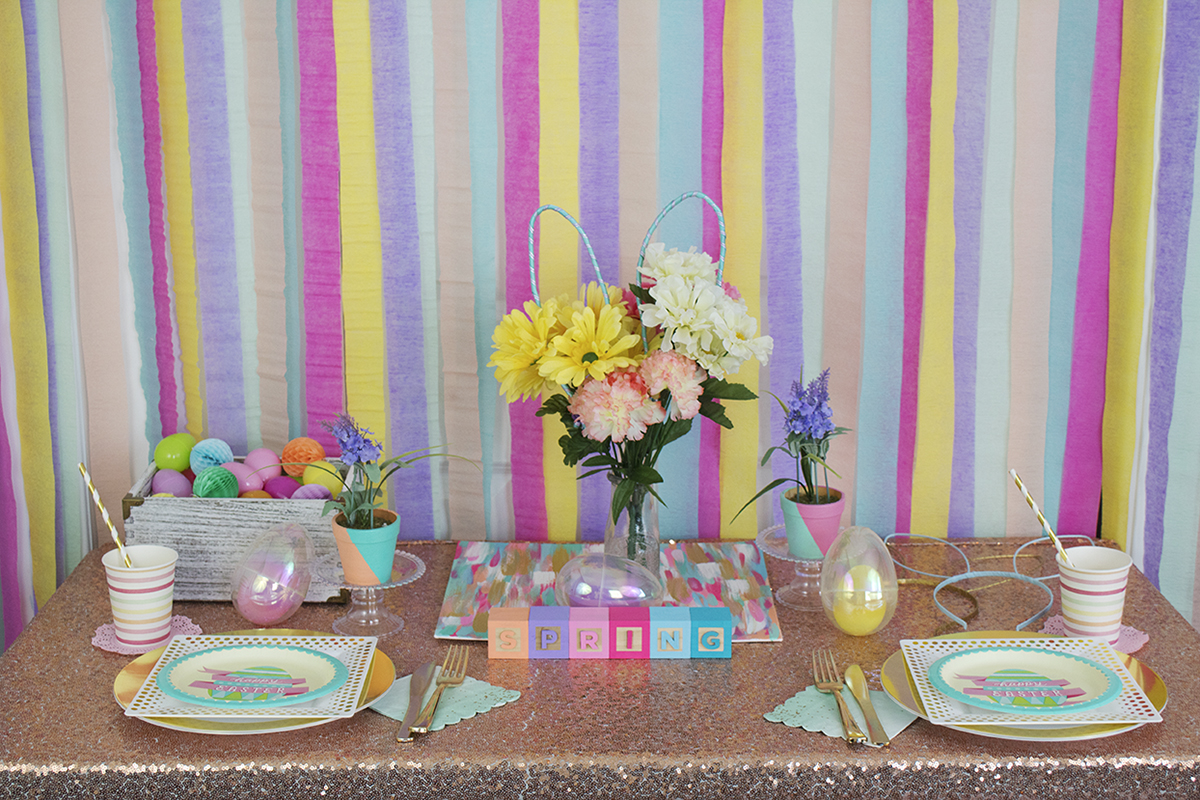 A lot of blog posts and parties can break the bank, and I know us millennials are on a budget. Like, always... so, here's a very cheap, easy, and gorgeous Easter setup made for any budget!