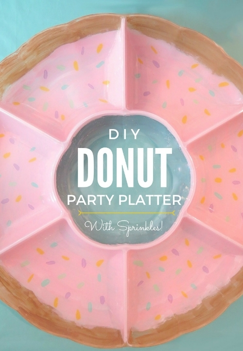 DIY Donut Party Platter with Sprinkles