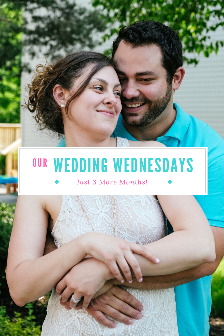 Wedding Update- 3 More Months! This month we're chatting about charger plates, choosing suits, favors, and more! Click for the full post.