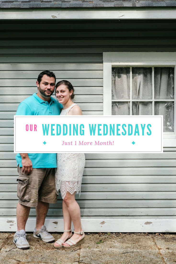 Wedding planning update! See what happens the month before the wedding, including seating charts, hashtags and dress fittings! #weddingplanning