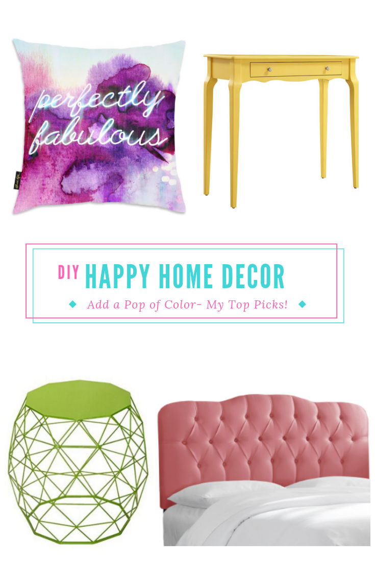 Add some color to your home with my top home decor picks! These items will give you some colorful home decor that won't overpower your decor, but it will stand out! Give your home a refresh today! #homedecor #colorfulhome #homedecorideas