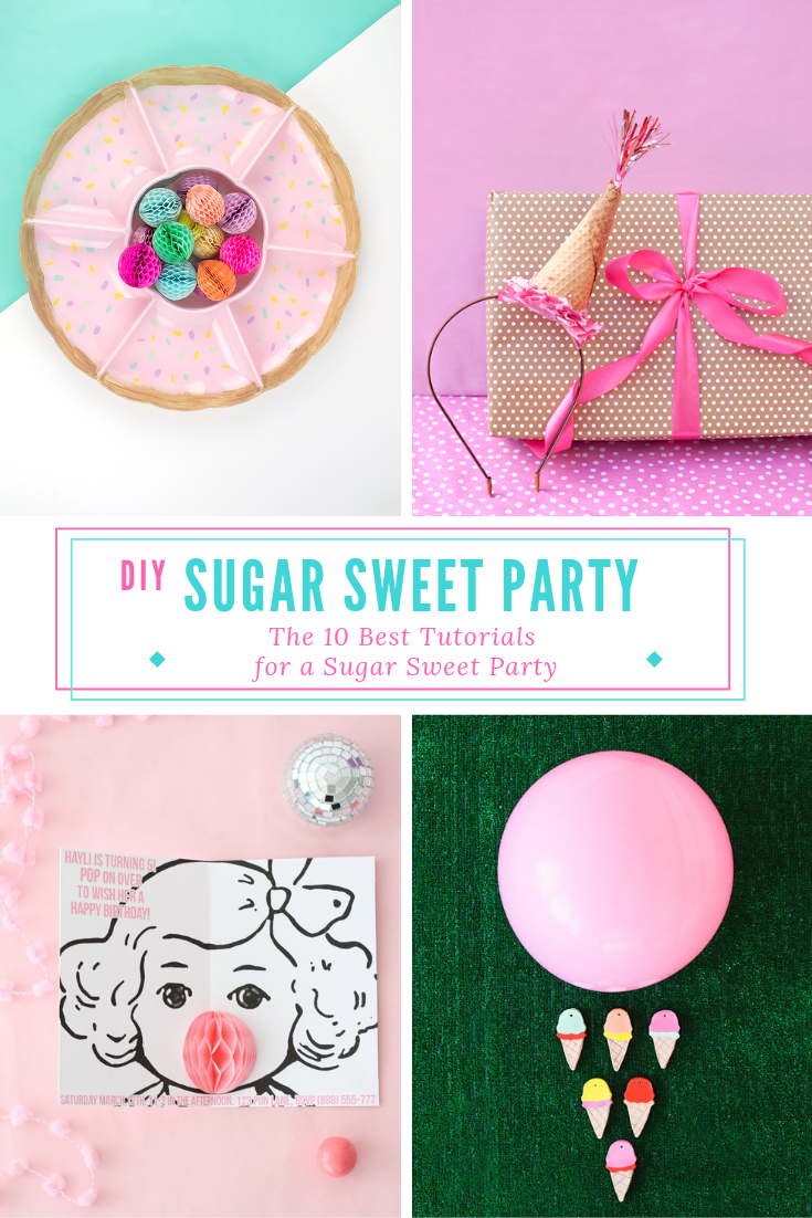 Looking for some great tutorials for your donut party, ice cream social, or sugar sweet party? You've got to check out this roundup of the top 10… I mean 12 best DIY projects! #icecreamsocial #donutbirthdayparty #partytheme