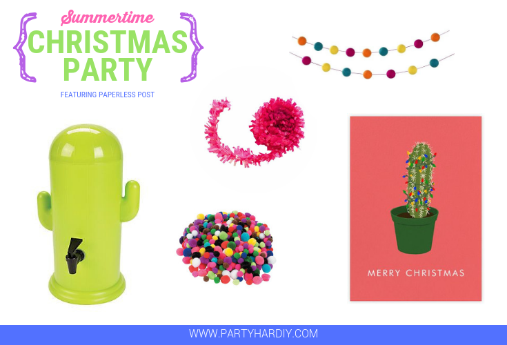 Although it still feels like summer, the holidays are just around the corner and I can faintly hear those jingle bells ringing! I decided to combine the warm weather and holiday excitement to create an awesome DIY Summertime Christmas Party. Time to start getting in the Christmas spirit!