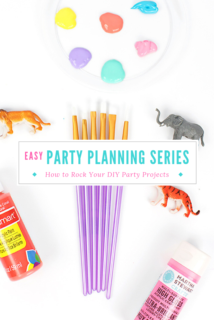 Planning a DIY party? Read my top tips to avoid last minute speedbumps, plus my favorite craft items- and how to save money on them! Click to learn more. #diyparty #partyplanning #diyprojects