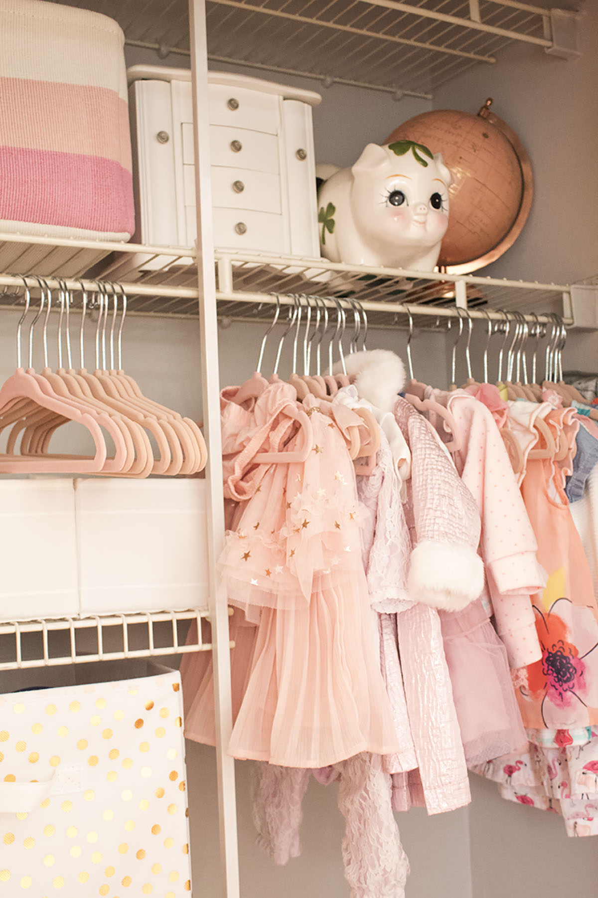 Looking for some nursery organization ideas? Check out this colorful and affordable nursery tour! From the closet to the dressers, I'll show you where to store all of baby's essentials. #nurseyorganizationideas #nurseryorganizationhacks #nurseryorganizationonabudget #nurseryorganizationcloset