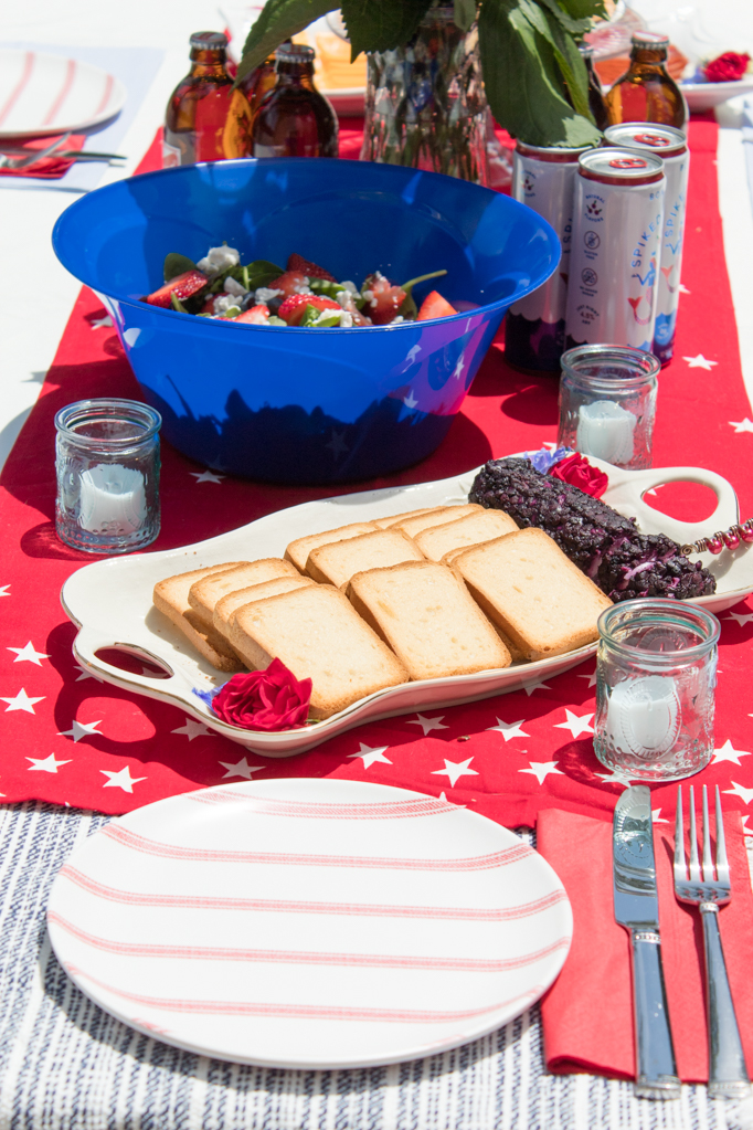 This summer, I decided that I'm going to make every celebration as easy as I possibly can. That means less time in the kitchen and more time enjoying the outdoors with a drink in hand, laughing with my friends. I decided to create a no cook party spread, and figured where better to start than Trader Joe's! I've been a fan of Trader Joe's for a while now (and this post is in no way sponsored by them) so I thought it be a great place to go and get some ready-made, delicious, fresh options for a Fourth of July party. Click to see how easy it can be for you, too!