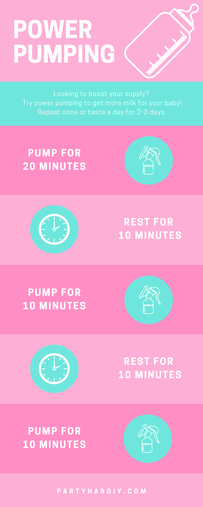 Looking to increase your breastmilk supply? Try a power pump session! It only takes an hour and helps A LOT. Plus, learn what foods and supplements I used to increase my supply- fast! Don't forget to pin it on Pinterest so that you can have it saved forever. Click to see all my tips, plus the must-have items for a successful breastfeeding journey! #breastfeedingtips #powerpumping #breastfeedingsupply #breastfeeding