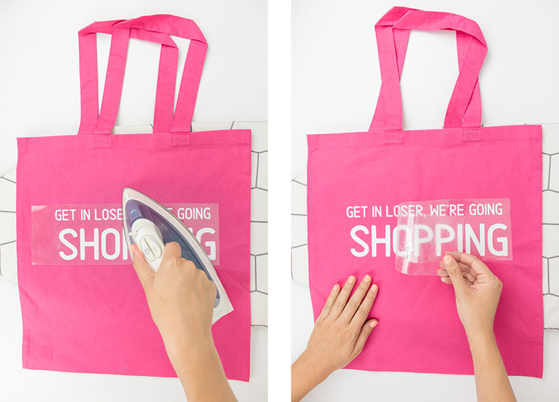 It's Mean Girls Day! As a total Mean Girls fan myself, I couldn't let this day pass by without doing a fun DIY project! It's  so fetch . I love a good tote bag, so I had to make my own and of course, it's pink! Click for the tutorial and the FREE Cricut cut files. #meangirls #totebagdiy #cricutprojects