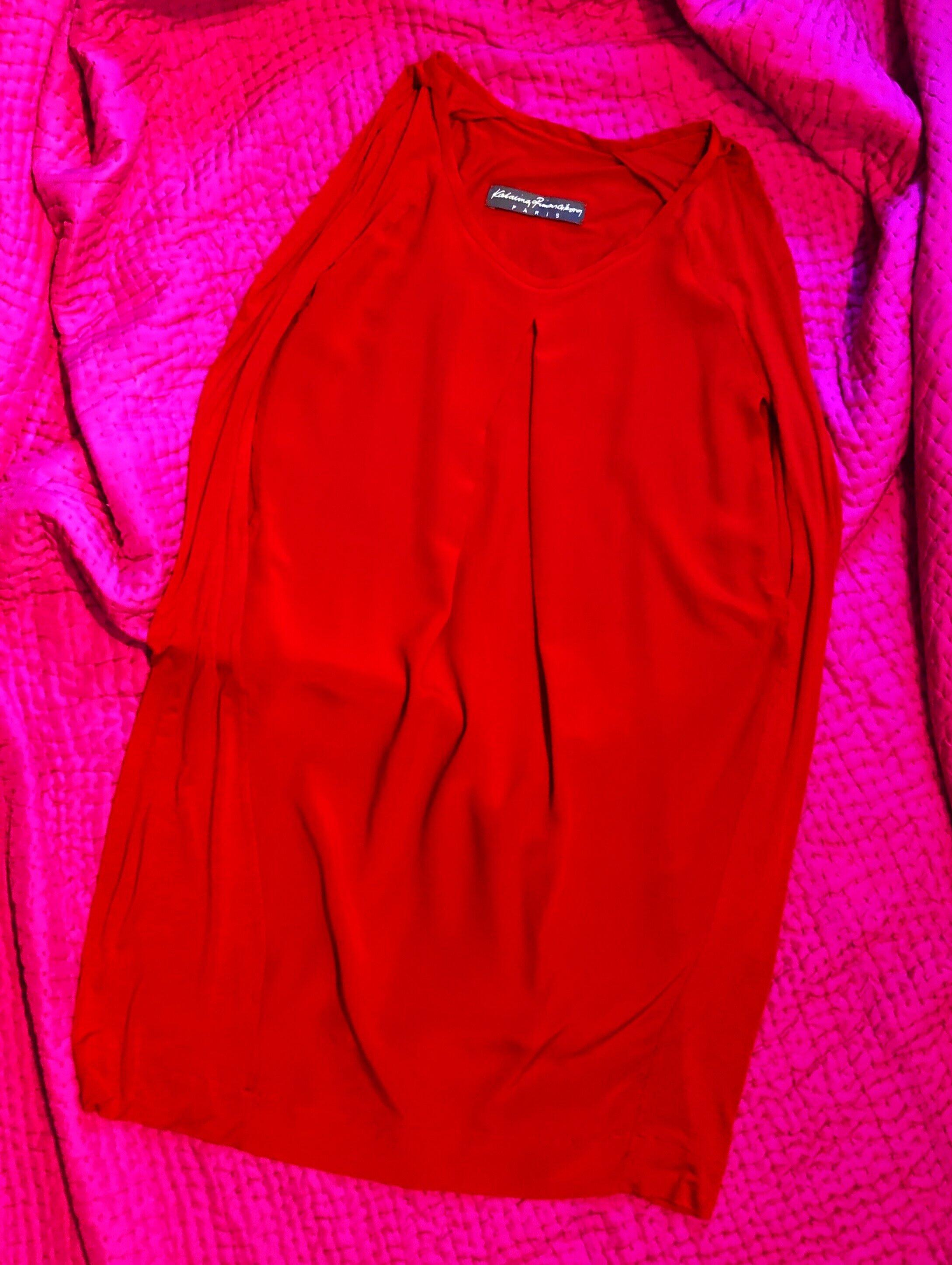 RED 2 SIDE DRESS