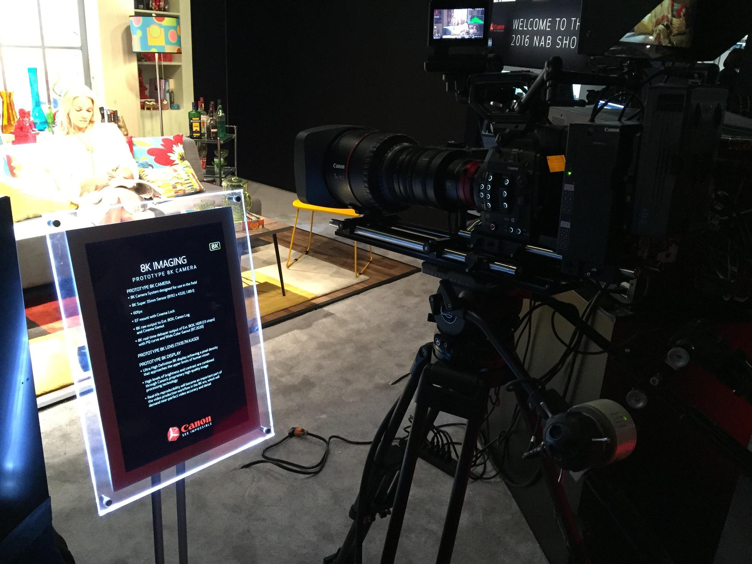 Canon's 8K camera prototype