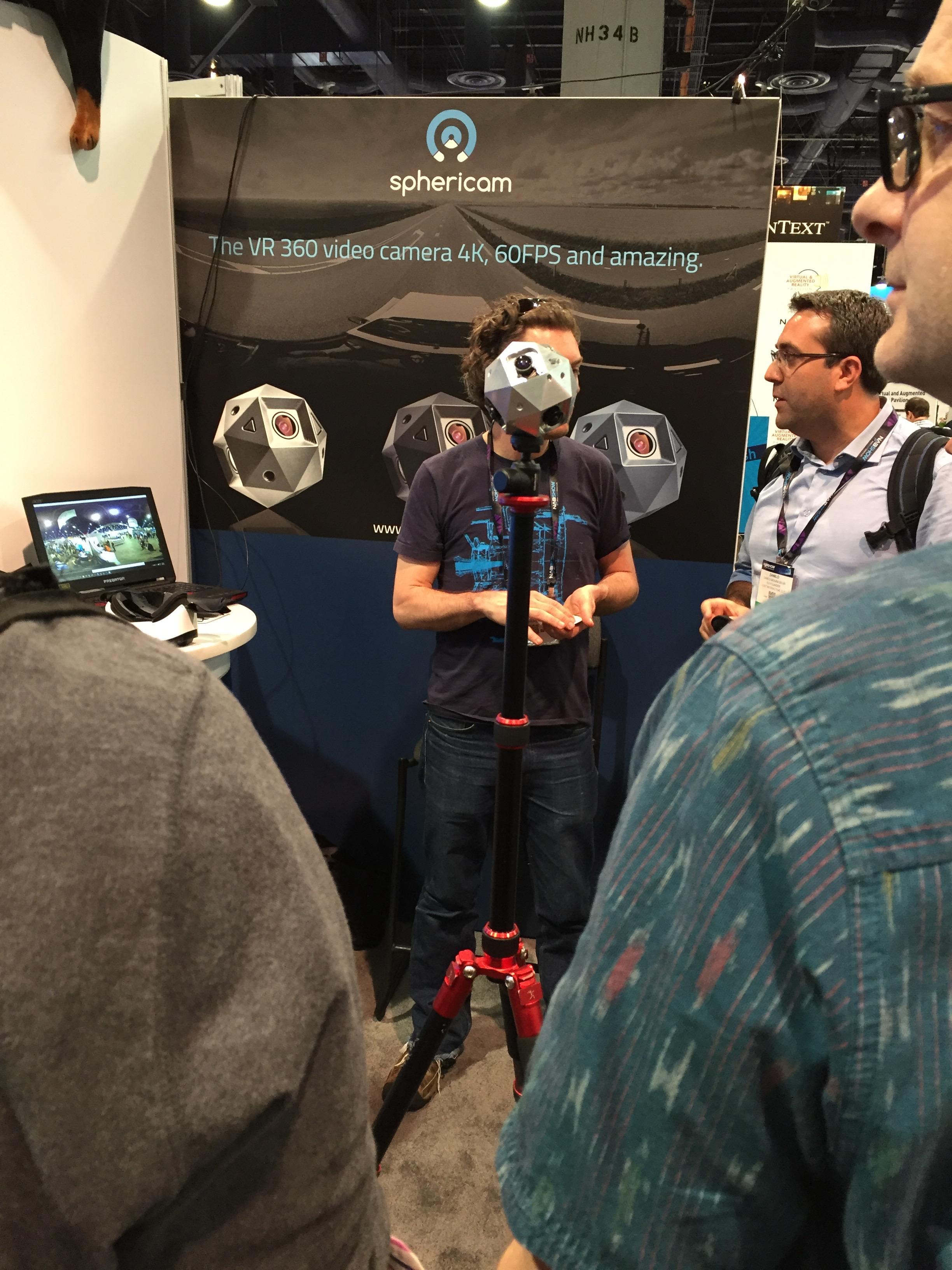 Sphericam's 360 camera