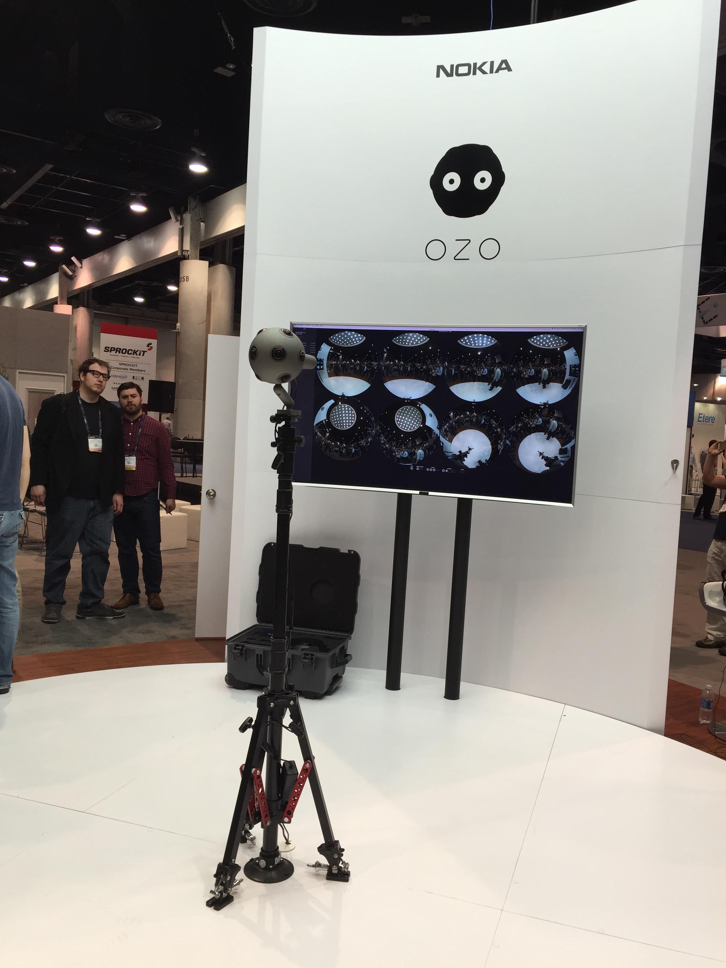 Nokia's OZO 360 VR camera with 360 sound recording capabilities.