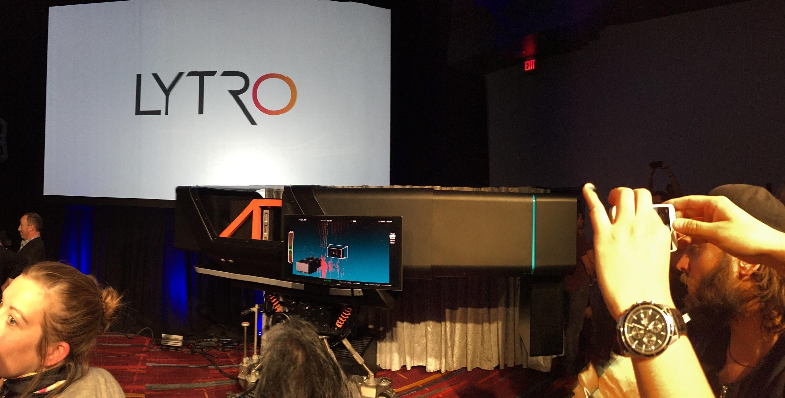 The Lytro cinema camera up close