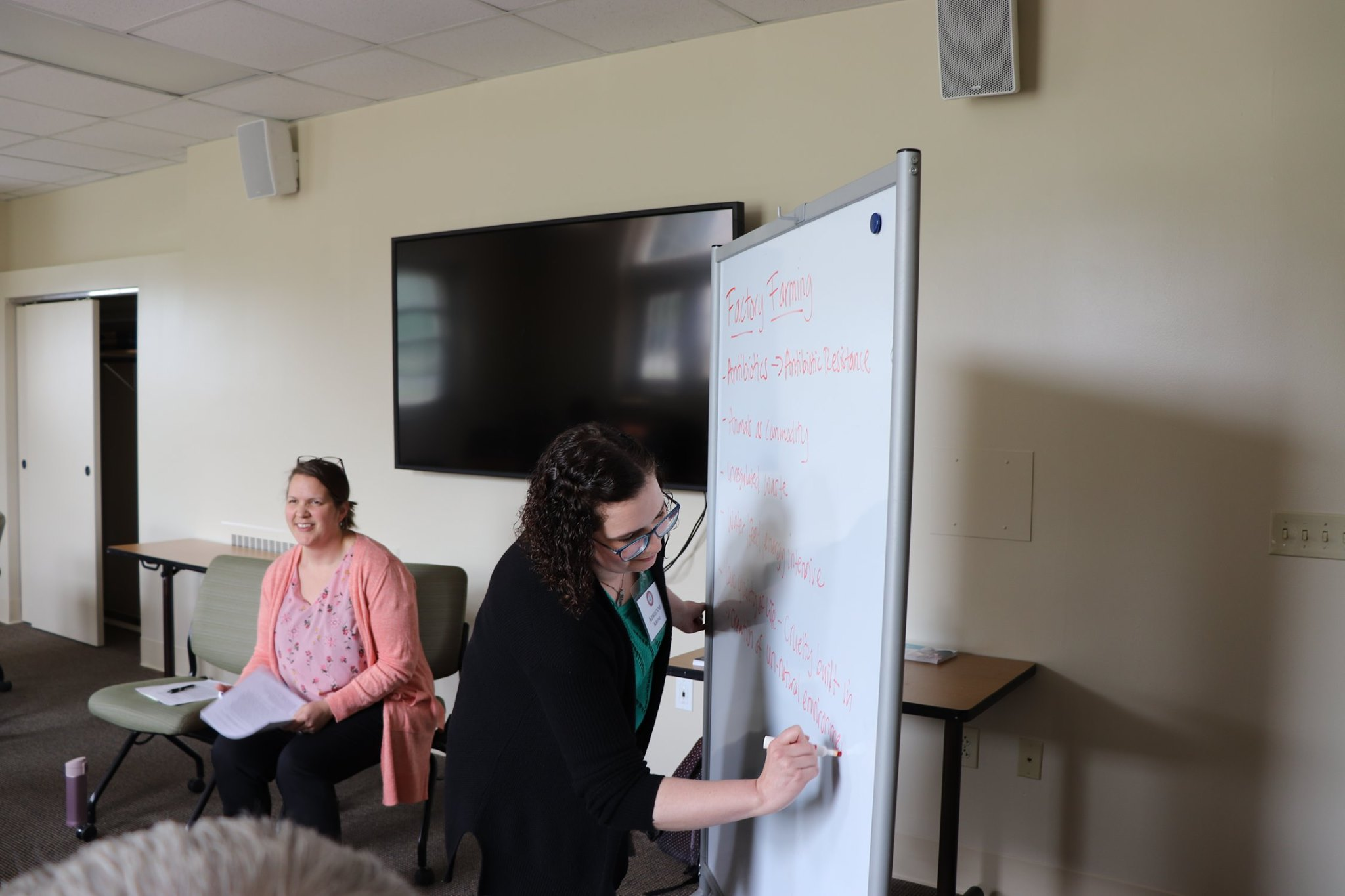 "Honored to co-lead a workshop on ""Eating for Community and Climate"" with Adrienne Krone, of Allegheny College. Photo credit: MTSO."