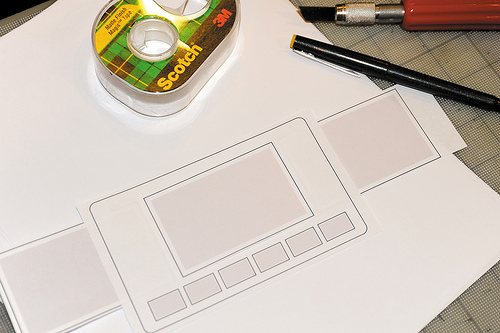 Potential paper wireframe for a website or app.