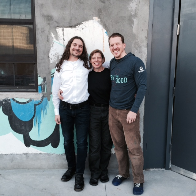 Jim Gay with fellow instructors Avdi Grimm and Sandi Metz after teaching at her Practical Object-Oriented Design course in NYC.