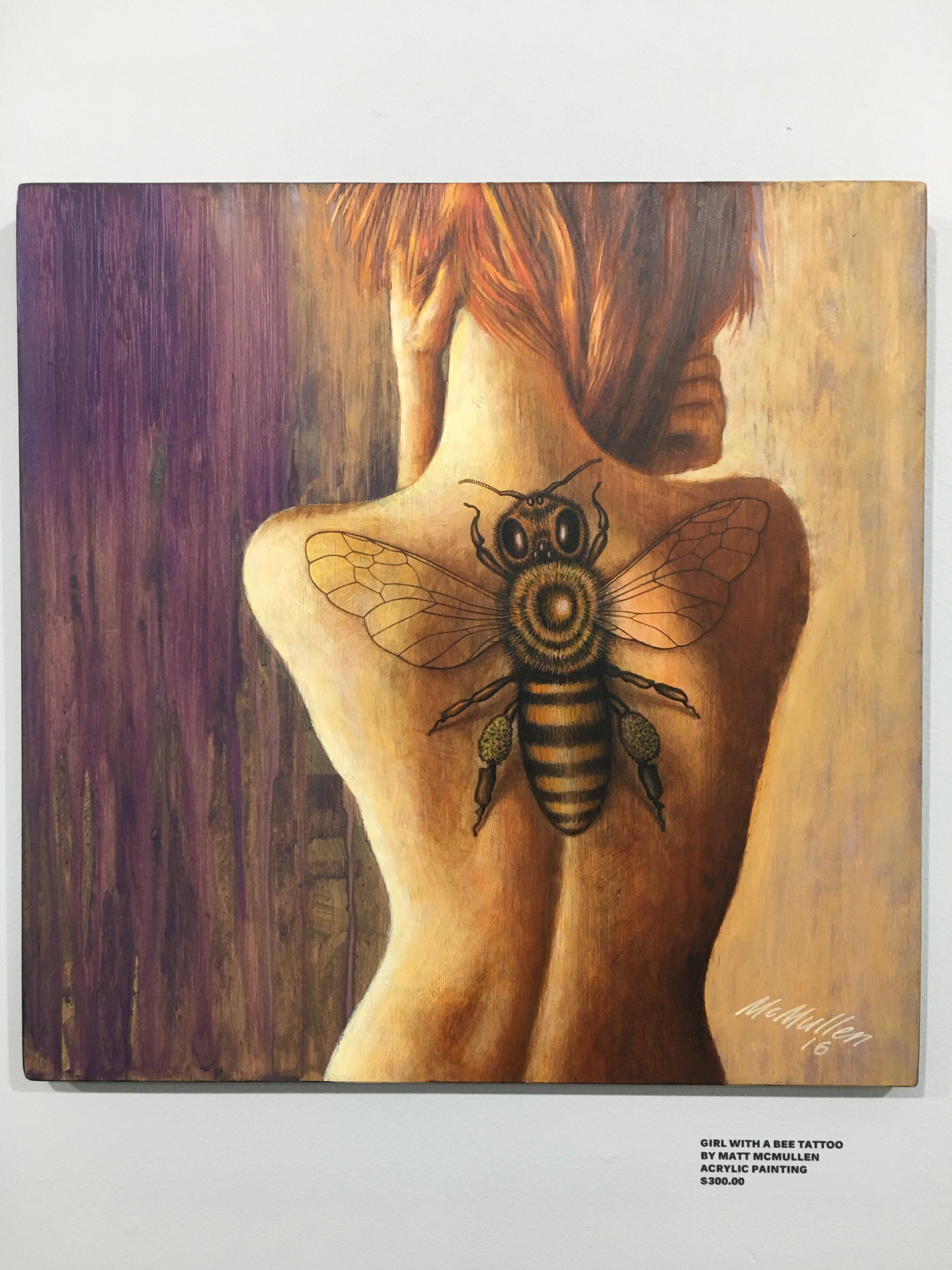 GIRL W/THE BEE TATTOO $250