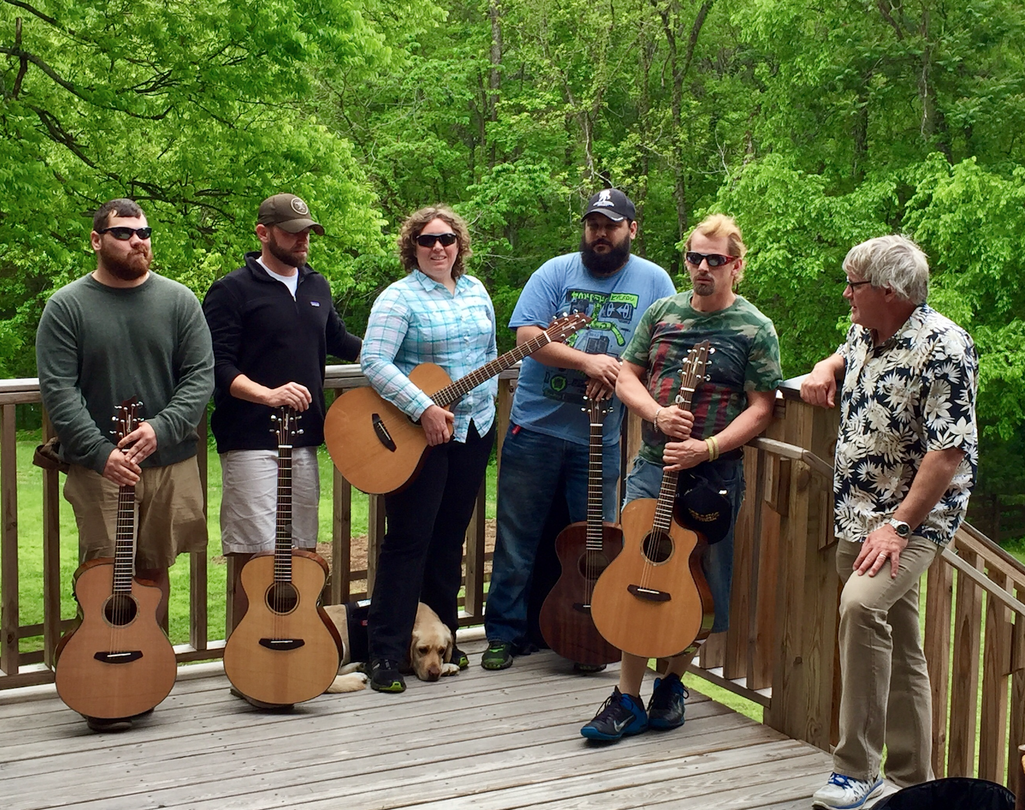 Participants with their new Breedlove guitars courtesy of Two Old Hippies.