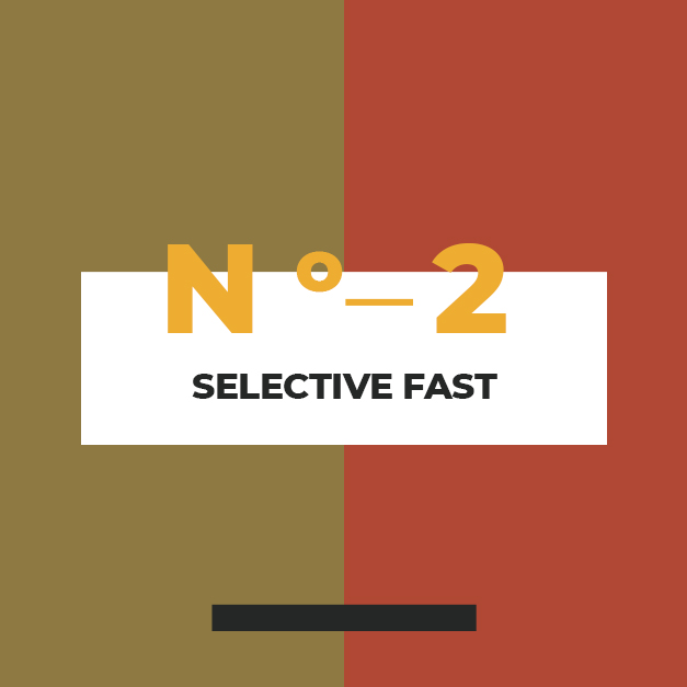 THE SELECTIVE FAST - This type of fast involves removing certain elements from your diet. One example of a selective fast is the Daniel Fast, during which you remove meat, sweets, and bread from your diet and consume water and juice for fluids and fruits and vegetables for food.