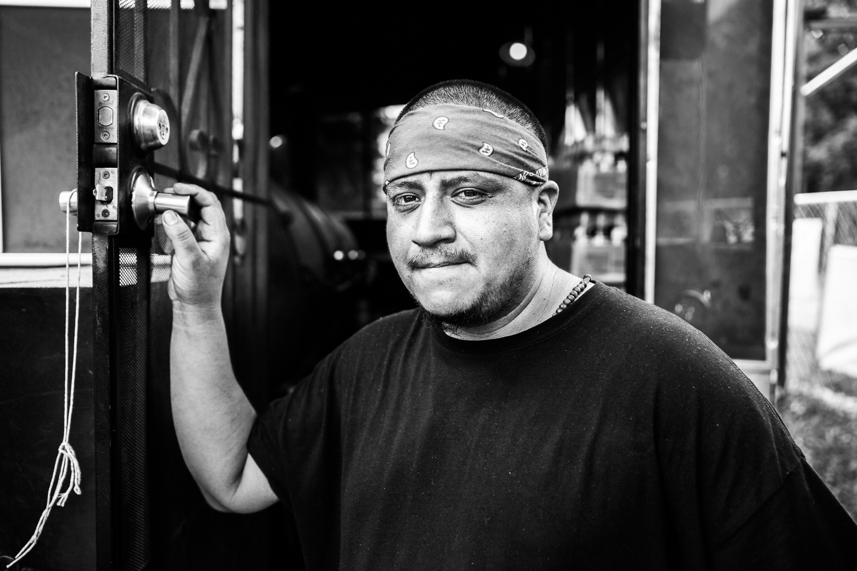 Francisco, Pit Master, Immigrant. La Barbecue, 14 May 2016, Austin, TX.